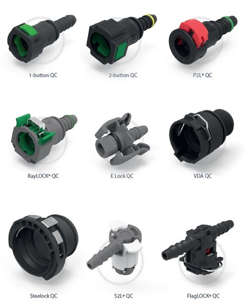 ARaymond quick connectors design for Automotive and Truck