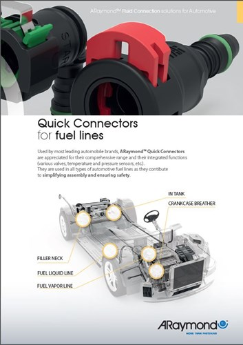 ARaymond quick connector fuel lines SAE standards